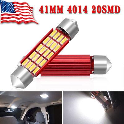 2X High Power 2323 Chip LED Map//Dome Interior Light Bulbs White 42 MM Festoon
