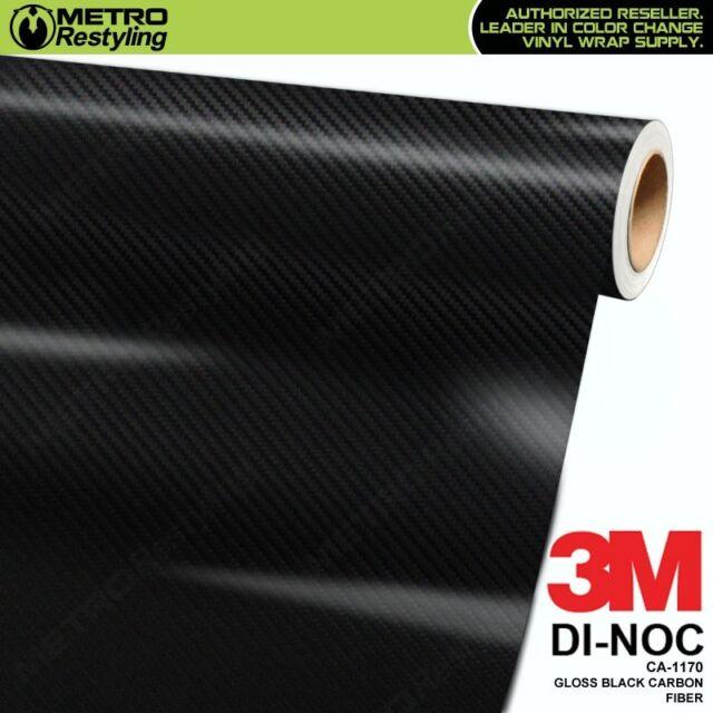 3M Scotchprint Series Di-Noc carbon Black 4ft x 1ft Vinyl Car Wrap Film Sheet Roll