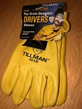 Tillman 864 Premium Unlined Top Grain Deerskin Drivers Gloves Various Sizes