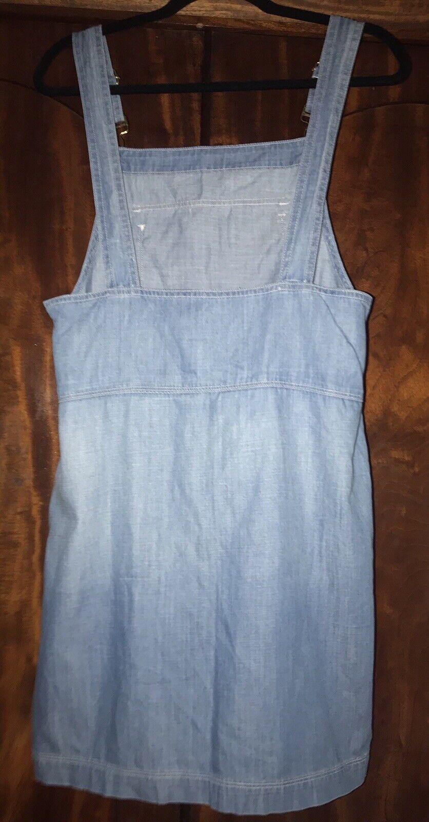 Frame Le apron Reese Soft Denim Overall Skirt Dre… - image 3