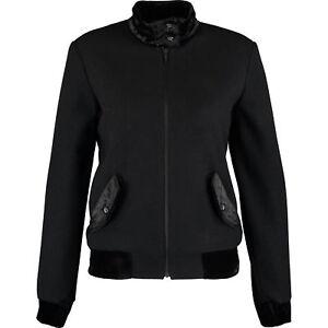 Black Harrington Uk14 Woolamp; Fred About Women's JacketSize Perry Details Velvet 4L5RAj