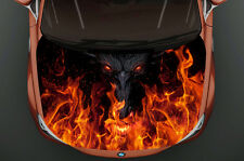Monster Fire Full Color Car Hood Vinyl, Car Vinyl Graphics gc 940