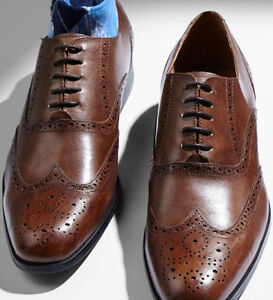 bespoke handmade men brown wingtipformal broguewedding