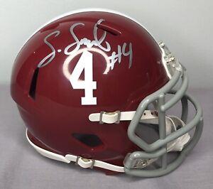 online store 548b1 a3e00 Details about Saivion Smith SIGNED Alabama Crimson Tide Football Mini  Helmet w/ COA