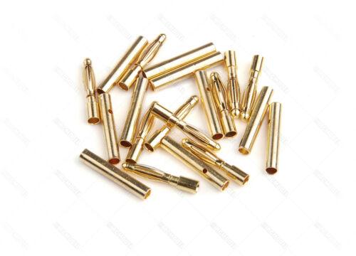 #10099 20 Pairs 2.0mm Gold-plated Metal Bullet Banana Plug Connector