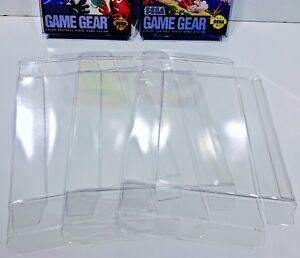 25-Box-Protectors-For-SEGA-GAME-GEAR-Video-Games-Clear-Acid-Free-Display-Cases
