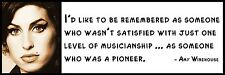 Wall Quote - Amy Winehouse - I'd like to be remembered as someone who wasn't sat