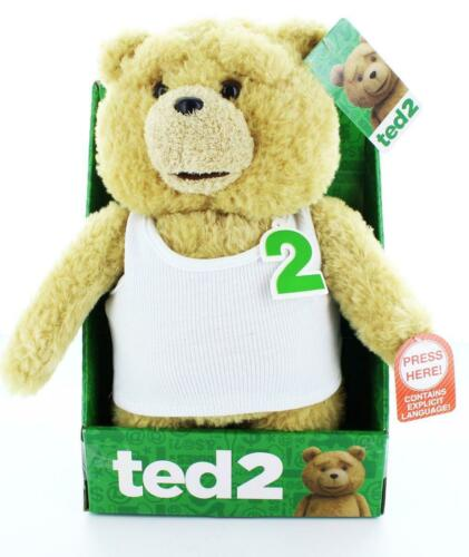 """Ted 2 Ted In Undershirt Rated R 11/"""" Talking Plush"""