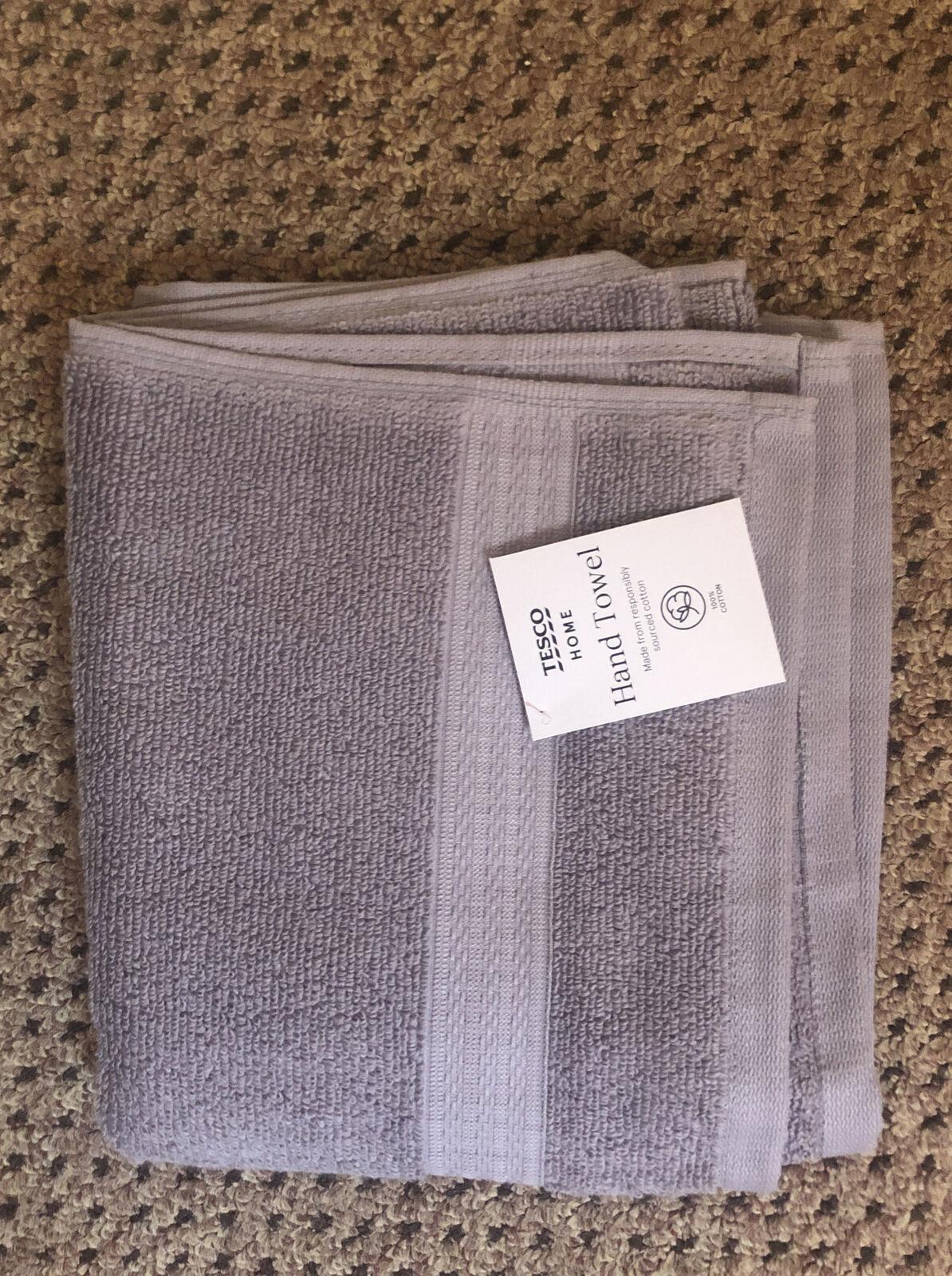 Hand Towel Grey 50 X 80cm 100% Cotton