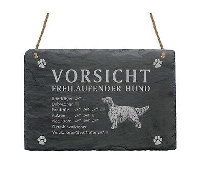 Herzhaft Schiefertafel « English Setter - Vorsicht - Freilaufender Hund » Schild Garten Noch Nicht VulgäR
