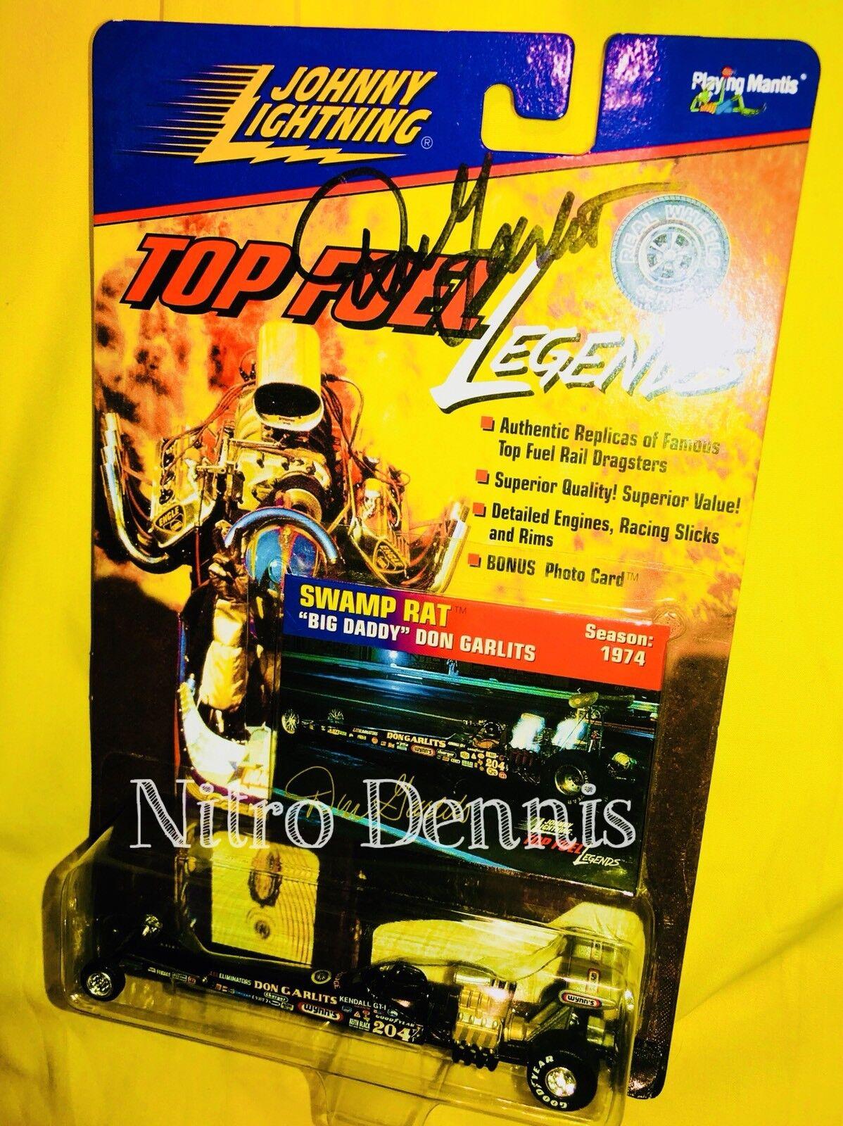 "NHRA Don Garlits 1 64 Diecast SIGNED Dragster NITRO Big Daddy JL ""Rare"""