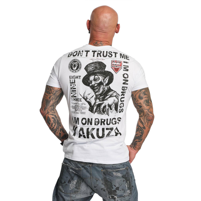 YAKUZA - Herren T-Shirt TSB 11049  Don't Trust Me  Weiß (weiß)    | Hohe Sicherheit  | Angemessener Preis  | Deutschland Store