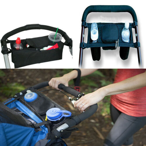 Baby Stroller Handle Console Tray Back Organizer Dual Cup Holder Hot Sale
