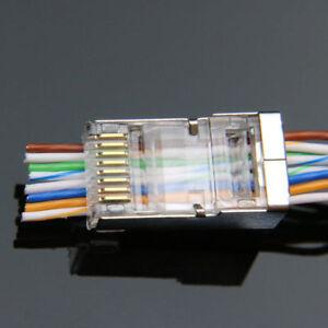 Cool 50Pcs Ez Rj45 Connector Cat6 Cat5E Network Plug Stp 8P8C Gold Plated Wiring Digital Resources Dimetprontobusorg