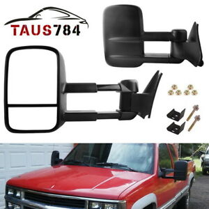 For Left+Right 88-98 C//K 1500//2500//3500 MANUAL Towing Tow Hauling Side Mirrors
