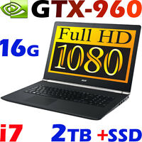 Acer Nitro Vn7-792g Quad I7-6700hq 16gb 128g Ssd + 2tb 17.3 Fhd Gtx960 Gaming