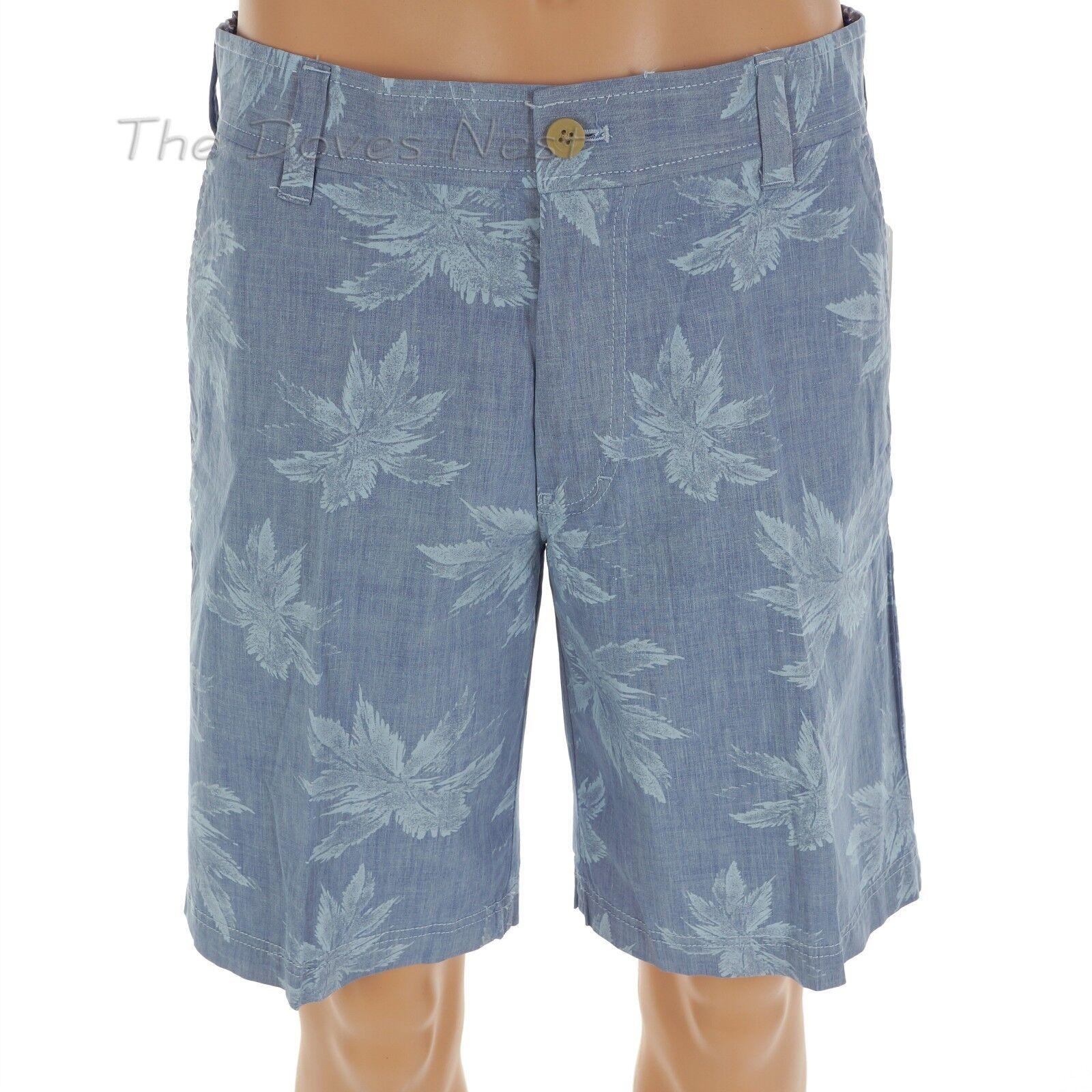 Club Blue 432 Size: LG Blue Izod Mens Palm Leaf Print Swim Trunk Short Large