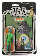 Vintage Star Wars Greedo 20 back D MOC Near CASE FRESH Kenner Boba Fett Offer