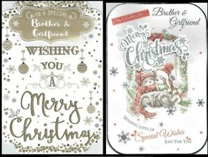 BROTHER-and-GIRLFRIEND-Quality-CHRISTMAS-CARD-with-Fab-Verses-Choice-of-Design