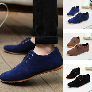 fashion british men's casual lace slip on loafer shoes