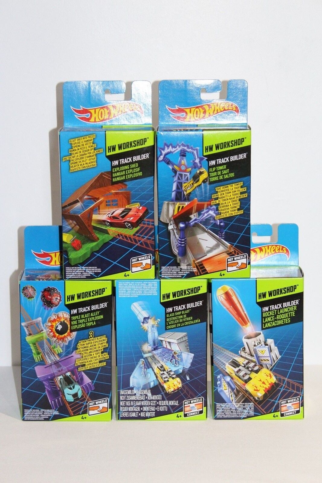 HOT WHEELS WORKSHOP TRACK BUILDER 5 SET BUNDLE ( See Detailed Description )