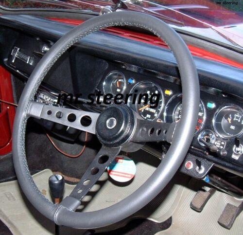 Fits FIAT DINO 1966-1973 Noir Italien Cuir véritable Couverture volant nouveau