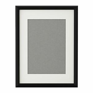 ikea black picture frame with mount poster prints photo
