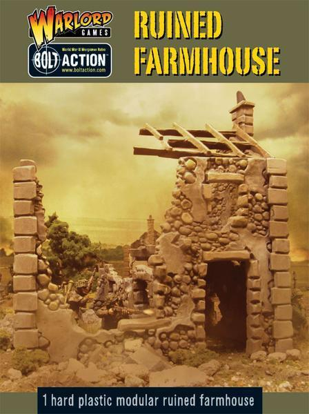 Ruined Farmhouse 28mm Warlord Games WWII Terrain Terrain Building Home Terrain
