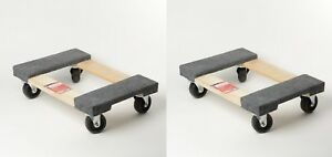 """2 PACK Furniture Moving Dolly 12""""x18"""" Movers Heavy Duty Caster Appliance PRO!"""