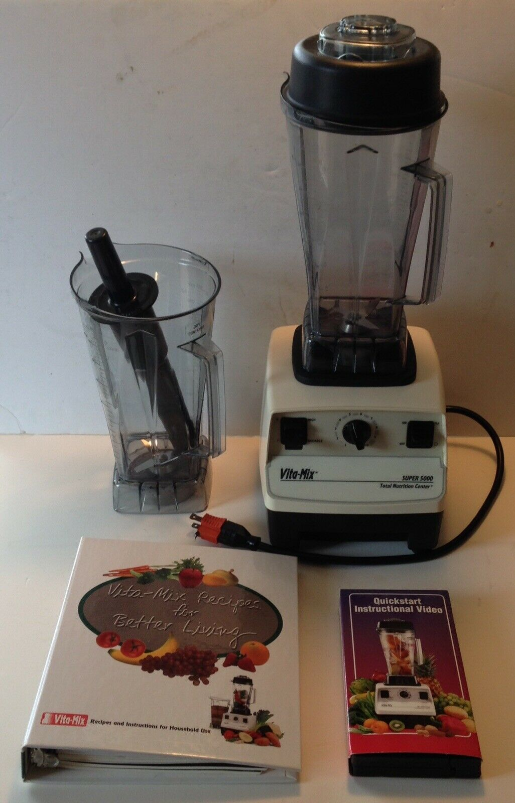 Vitamix Food Prep Super 5000 Blender With 2 (Wet Dry) Containers Cookbook Video