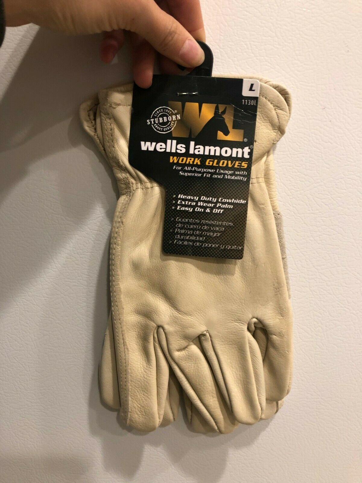 Wells Lamont 1130 Leather Work Gloves with Reinforced Palm Size X-Large 3 Pair