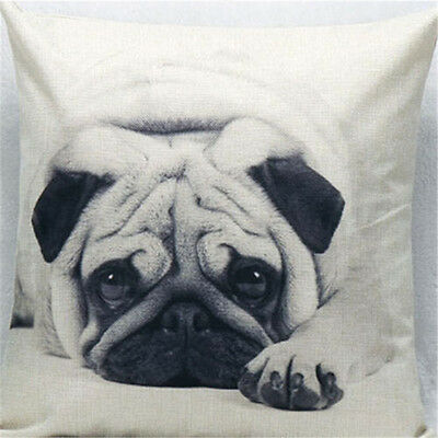 Vintage Cotton Owl Linen Pillow Case Sofa Waist Throw Cushion Cover Home Decor C