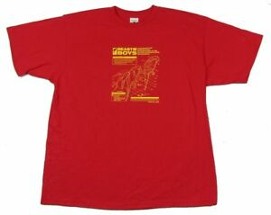 54f7e4ce83feba Beastie Boys Mechanical Parrots Mens Red T Shirt New Official Merch ...
