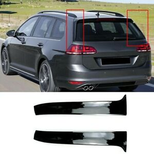 2pc-Gloss-Black-Rear-Window-Side-Spoiler-Wing-VW-GOLF-MK7-ESTATE-Wagon-Alltrack