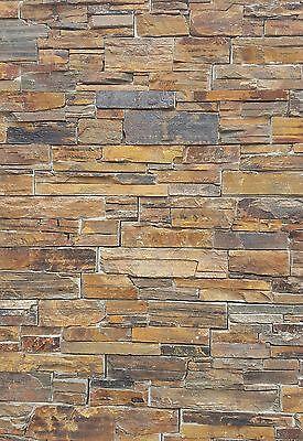 Musterstück der Naturstein Schiefer Wandverblender braun Riemchen 15x55cm