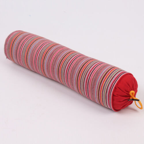 Newest Buckwheat Pillow Colorful Striped Cervical Spine Care Comfy Roll Pillow
