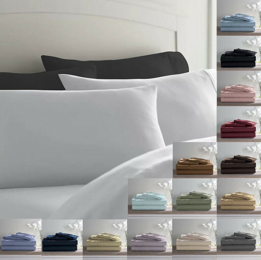 Experience True Luxury with this ultra Soft 800 TC Egyptian Cotton Bed Sheet Set