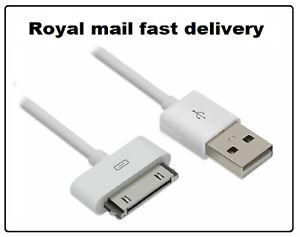 USB-Sync-30-Broche-Cable-De-Donnees-Chargeur-Pour-IPHONE-4-4-S-3GS-iPad-2-3-iPod