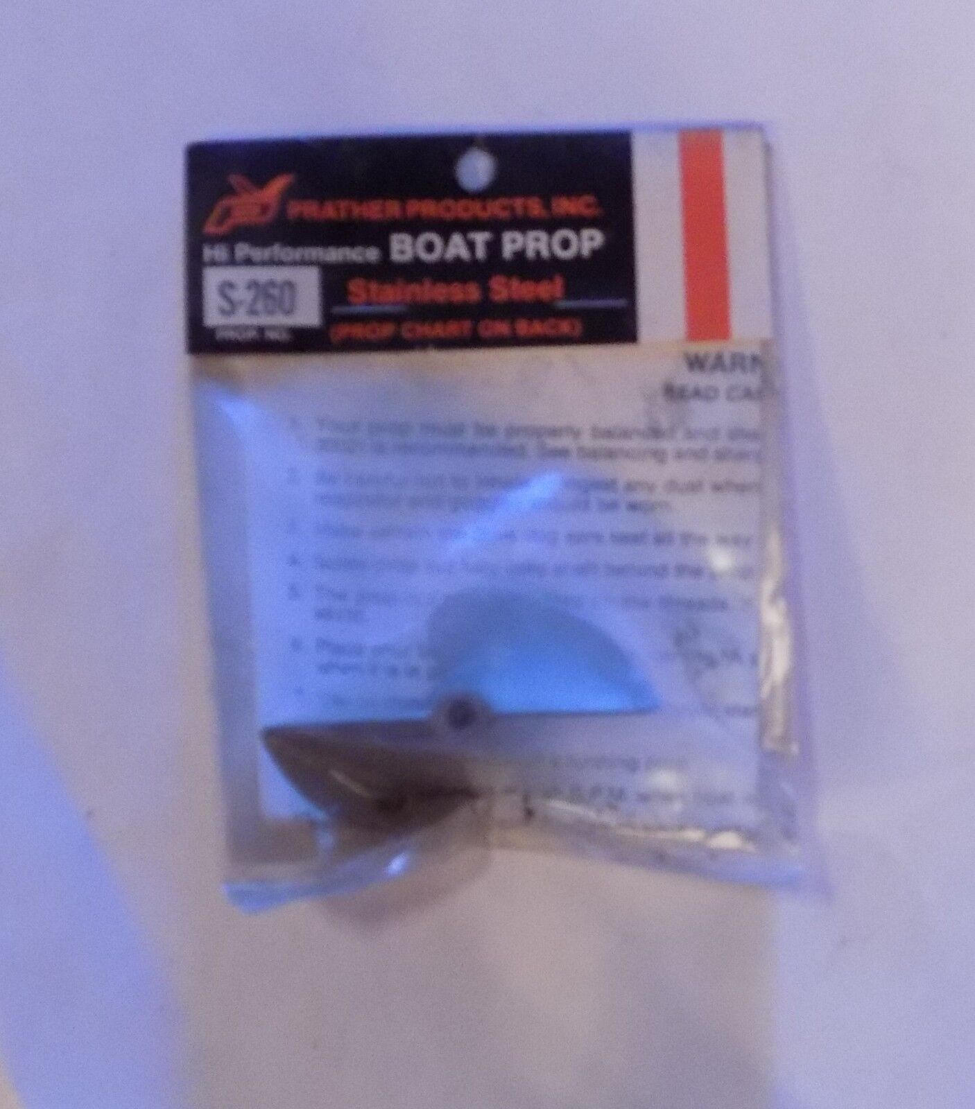 Prather Products S260 Boat Prop Stainless Steel