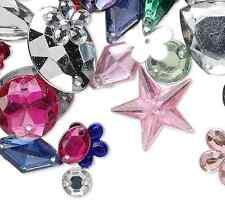 Wholesale Lot 100g Mixed Acrylic Rhinestone Embellishment & Sew on Beads 600
