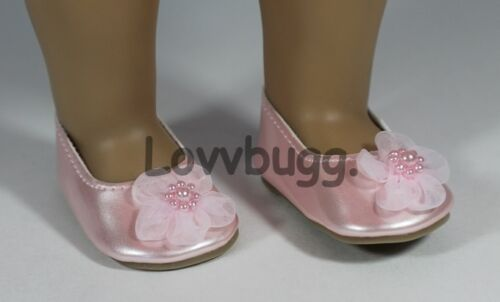 "Sweet Flower Flats Pink for American Girl 18/"" Doll Shoes  LOVVBUGG EXCLUSIVE"