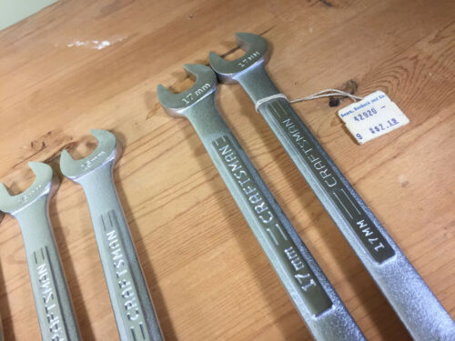 =V= MANY SIZE NOS VINTAGE CRAFTSMAN USA 12 POINT METRIC COMBINATION WRENCHES V