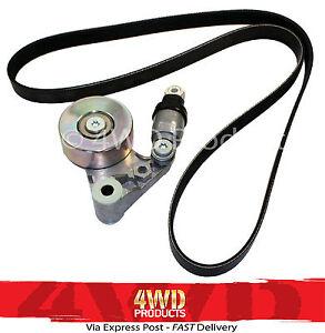 Drive-Belt-Tensioner-Pulley-Belt-SET-for-Nissan-Patrol-GU-3-0TDi-ZD30-00-07