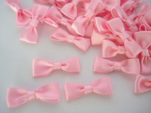 40 Light Pink Satin Simple Ribbon Bow Tie//wedding//trim//craft//baby//dress//doll F40