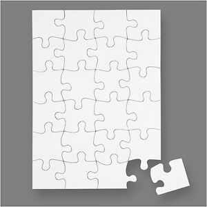 a5 blank jigsaw create your own jigsaw puzzle diy craft pack of 16