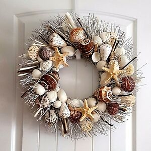 21-034-Sea-Shell-Wreath-on-Birch-Twig-with-Alphabet-Shells-amp-Star-Fish-Details