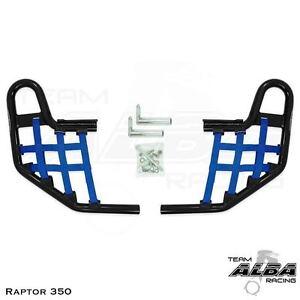 Yamaha Raptor 350   Nerf Bars with heel guards    Alba Racing  Blk blu 209 T8 BL