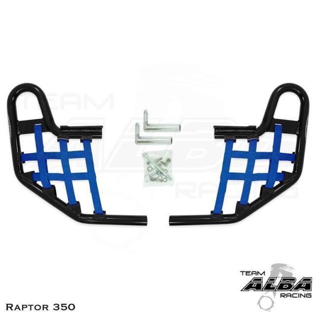 YFZ 450  Intimidator  Front Bumper Black /& Blue Screens  Alba Racing  199 N3 BL