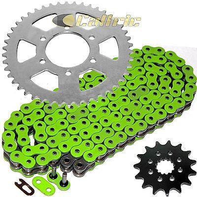 Green O-Ring Drive Chain /& Sprockets Kit Fits KAWASAKI EX650 Ninja 650R 2006-16