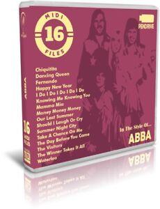 16-Midi-Files-In-The-Style-Of-ABBA-Pendrive-USB-Escucha-Listen-Demos-Midis